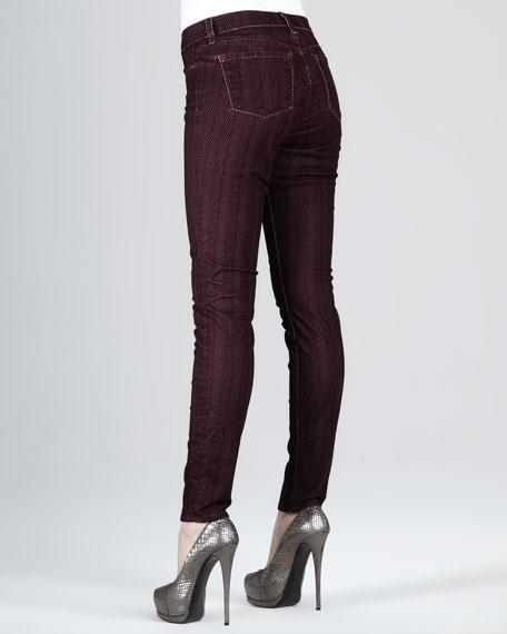 811 Lava Herringbone Skinny Jeans