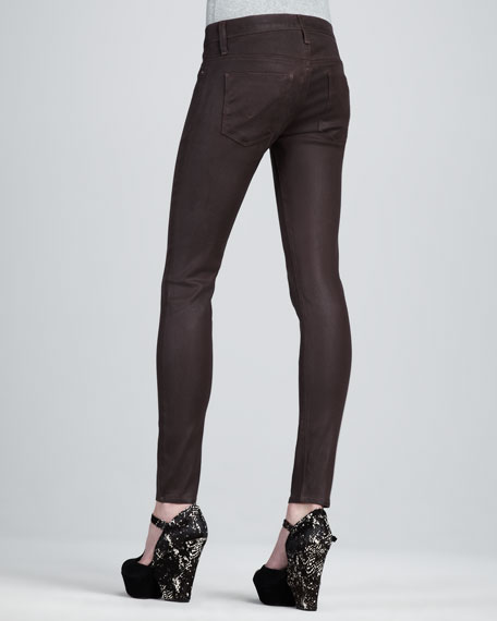 Krista Stout Waxed Super Skinny Jeans