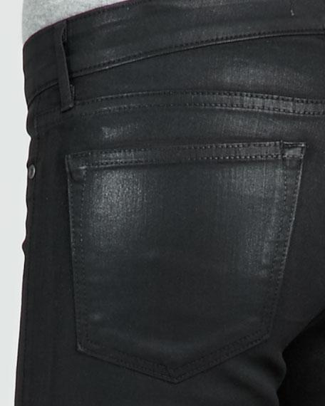 Tar Coated Faux-Leather Leggings
