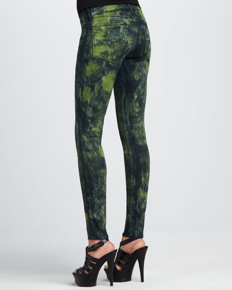 Legacy Green Graz Monet Dyed Legging Jeans