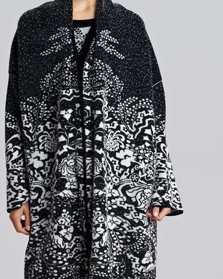 Intarsia Sweater Coat