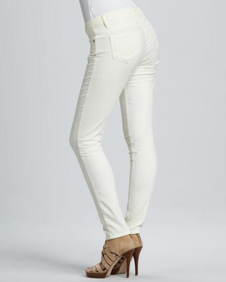 Verdugo Cream Velvet Skinny Jeans