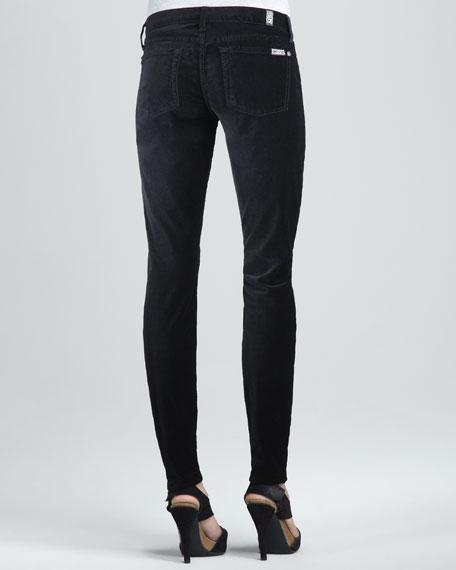 Skinny Black Velvet Jeans