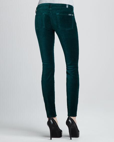 Skinny Dark Jade Velvet Jeans