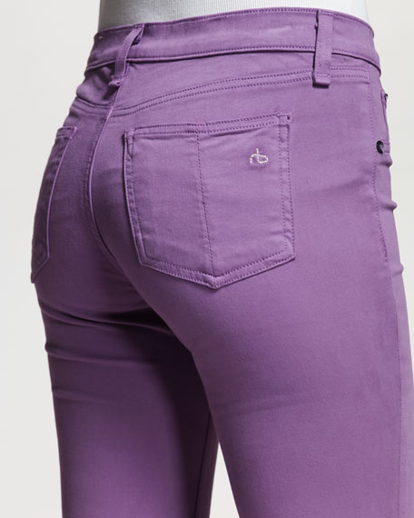 Plush Twill Leggings, Amethyst