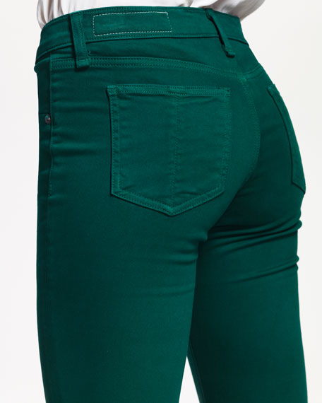 Plush Twill Leggings, Emerald