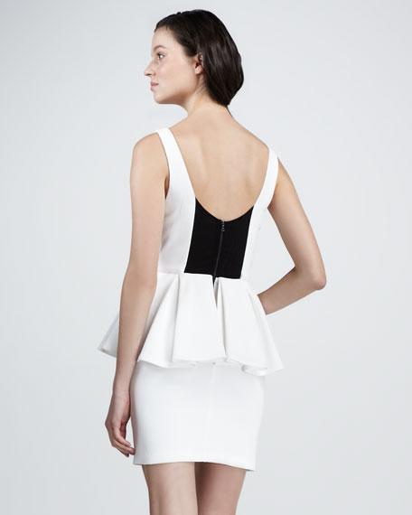 Moira Belted Peplum Dress