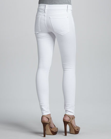 Relaxed Cigar Destroyed Jeans, White