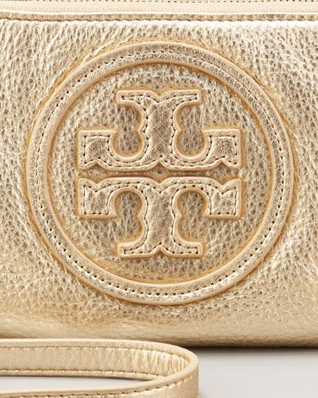 Logo Crossbody Bag, Metallic