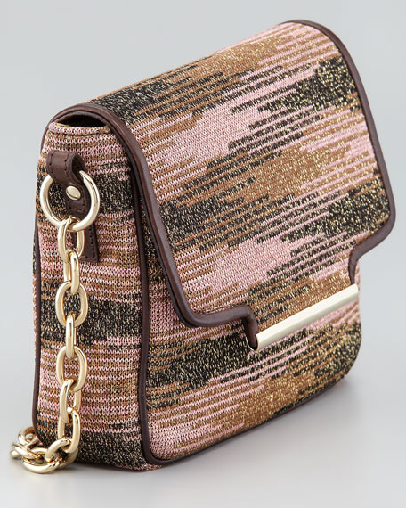 Metallic Knit Handbag