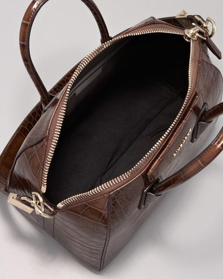 2c7d7eb30b Givenchy Antigona Crocodile-Embossed Duffel Bag