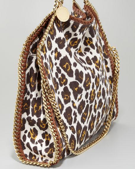 5efa01863ed2 Stella McCartney Falabella Fold-Over Leopard-Canvas Tote Bag