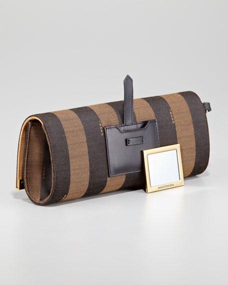 Rush Pequin Striped Pochette Wristlet Bag