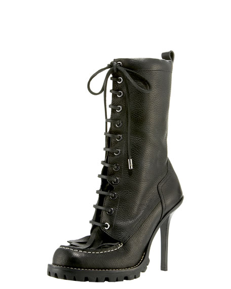 Trigg Mid-Calf Lace-Up Boot