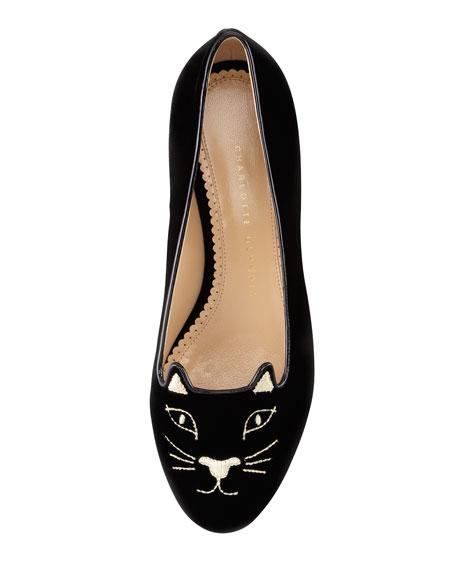 Kitty Cat-Face Velvet Skimmer