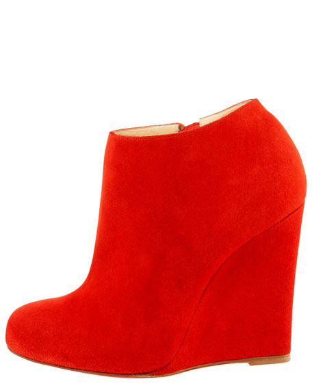 Belle Zeppa Suede Wedge Bootie