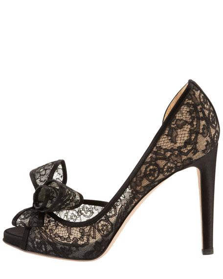 Couture Lace Platform d'Orsay