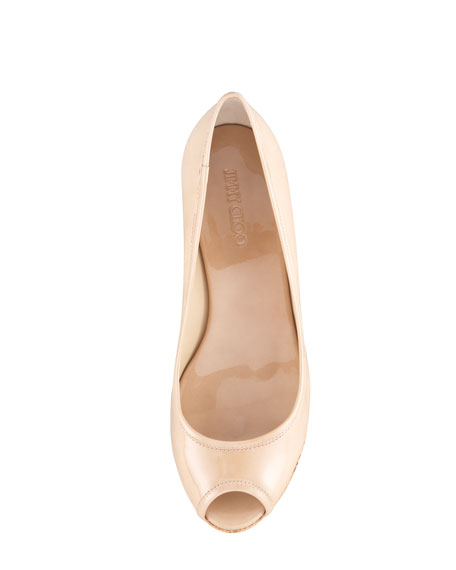 Parley Patent Leather Cork Wedge
