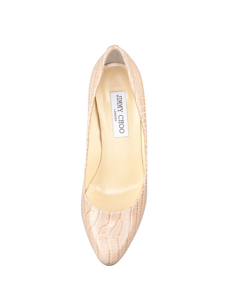 Vikki Crocodile-Embossed Pump