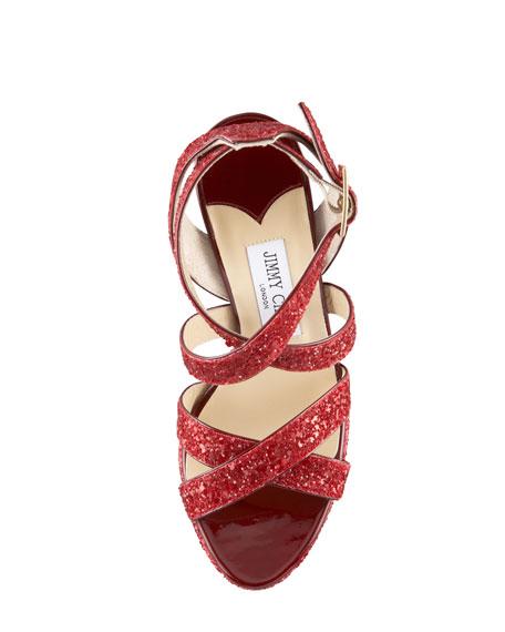 Glitter Vamp Crisscross Sandal