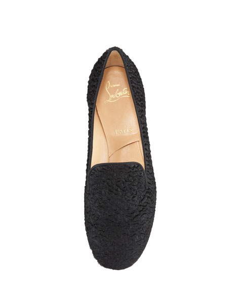 Sakouette Curly Calf Hair Red Sole Loafer