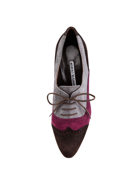 Catia Suede Lace-Up Oxford