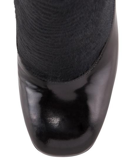 Victorian Astrakhan-Effect Sock Bootie