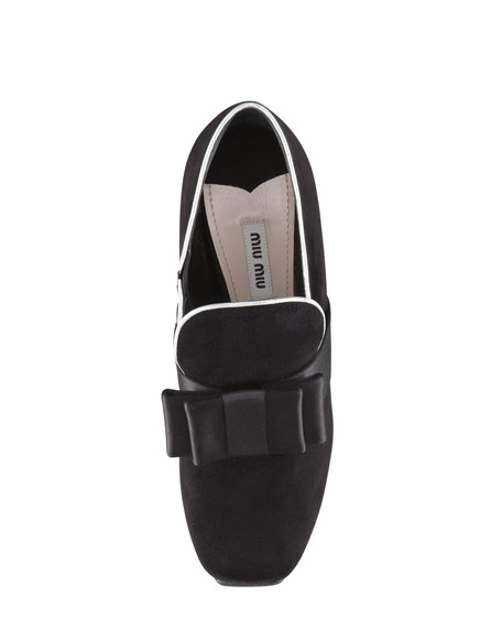 Metallic-Trim Loafer Pump