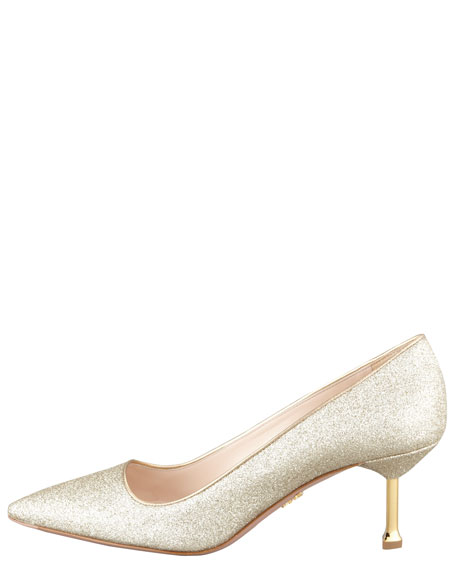 Glitter Pointed-Toe Pump