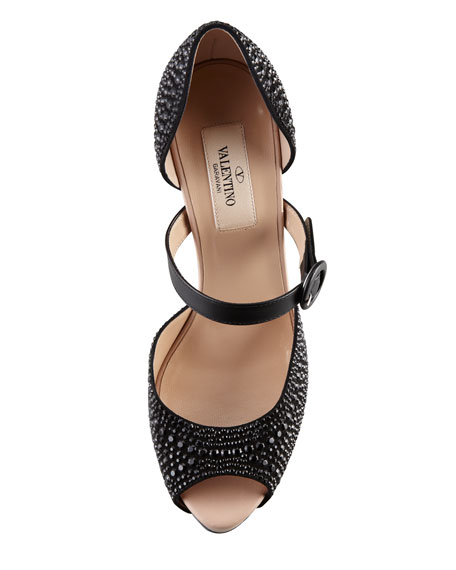 Microstud Mary Jane, Black