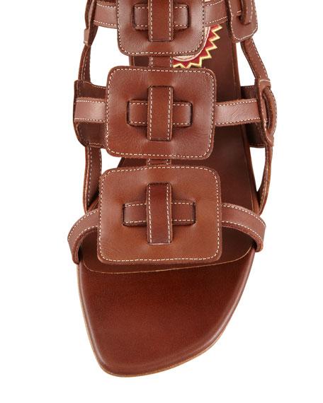 Rose Du Desert Flat Gladiator Red Sole Sandal