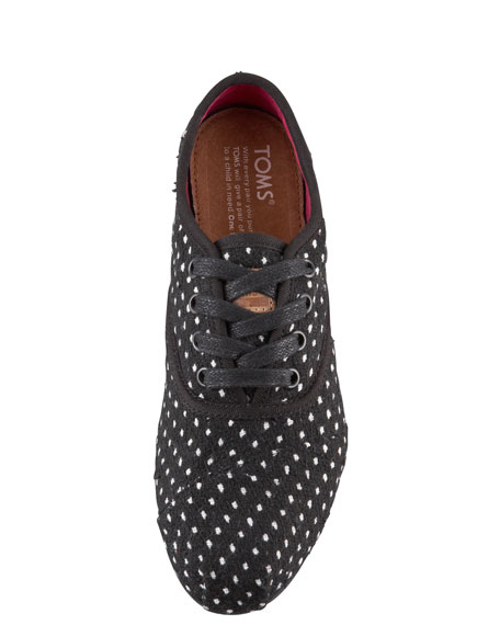 Polka-Dot Lace-Up