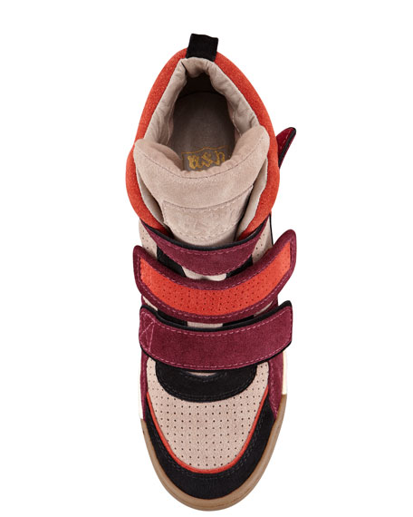Bea Double-Strap Wedge Sneaker