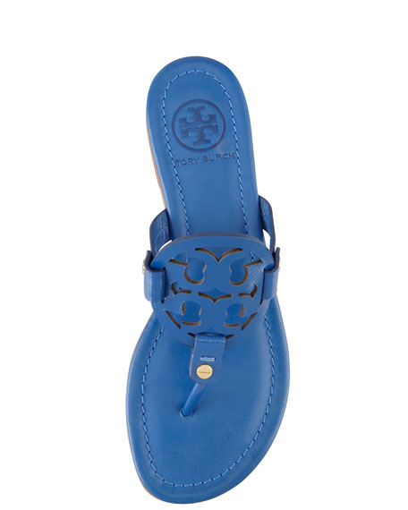 9c449318f8a151 Tory Burch Miller Logo Flat Thong Sandal