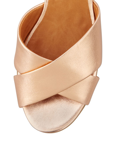 Wedge Metallic Sandal Napa Rose Gold lFc3JTK1