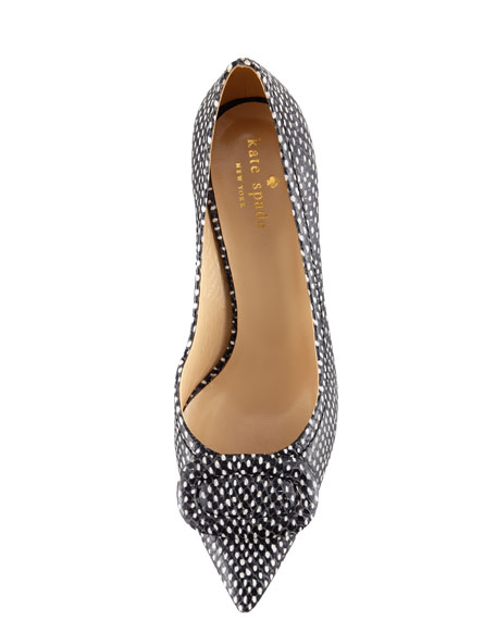 3c6b7bf2c876 kate spade new york simon snake-print kitten-heel pump