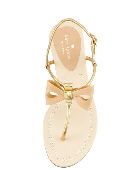 trendy bow thong sandal