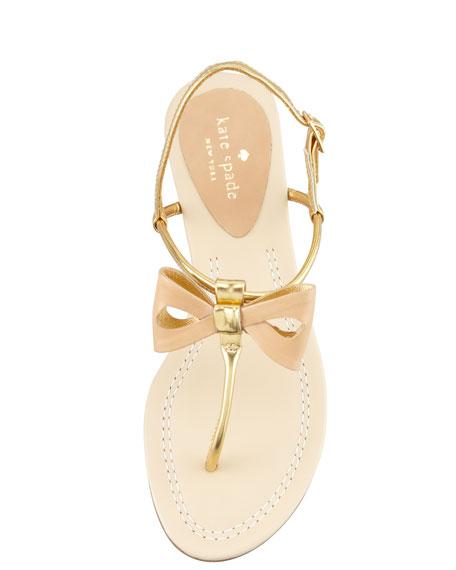 trendy bow thong sandal