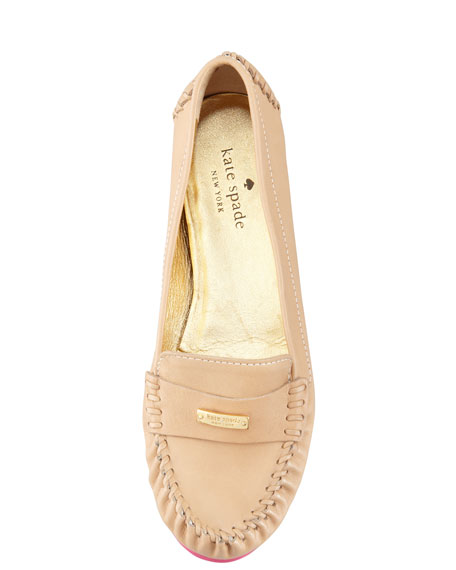 weekend rubber-bottom loafer, natural/pink