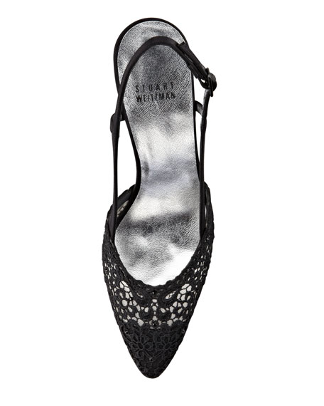 Lady Lace Slingback