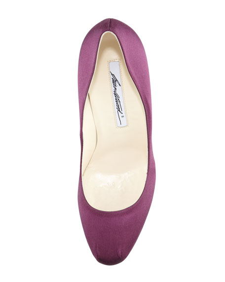 Hamper Satin Platform Pump, Purple