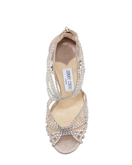 Diva Crystal Cutout Sandal