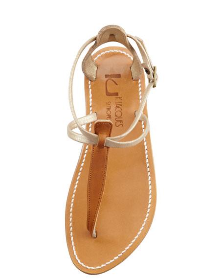 Buffon Two-Tone Strappy Thong Sandal
