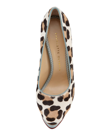 Polly Leopard-Print Calf Hair Pump