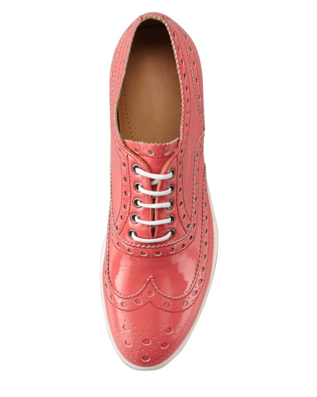 Patent Leather Wing-Tip Oxford