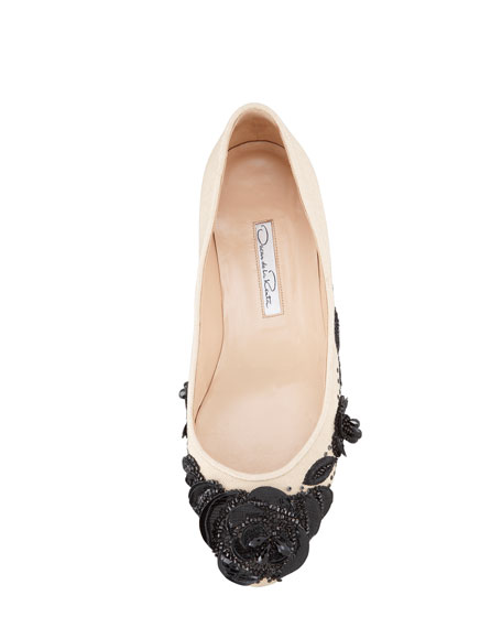 Petalina Embroidered Ballerina Flat