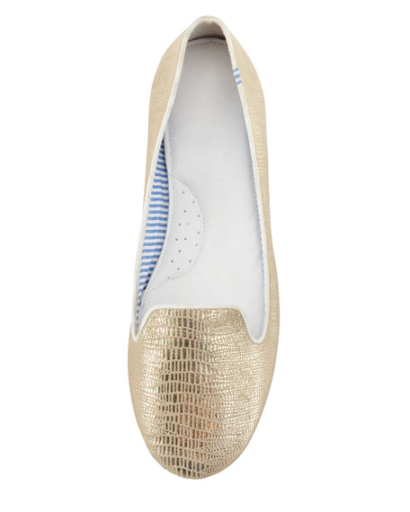 Lizzette Python-Print Smoking Slipper