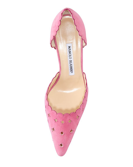 Astro Suede Perforated Pump, Pink