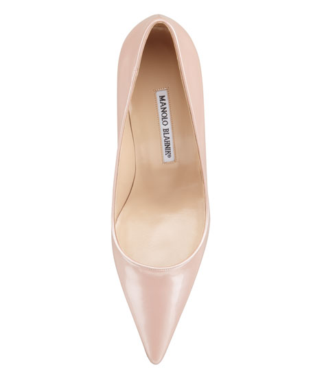 Newcio Patent Leather Pointed Toe Pump, Pink