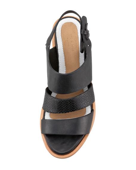 Folsom Mid-Heel Sandal, Black